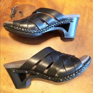 Women's Dansko Sandals.  Color: Black Size: 37